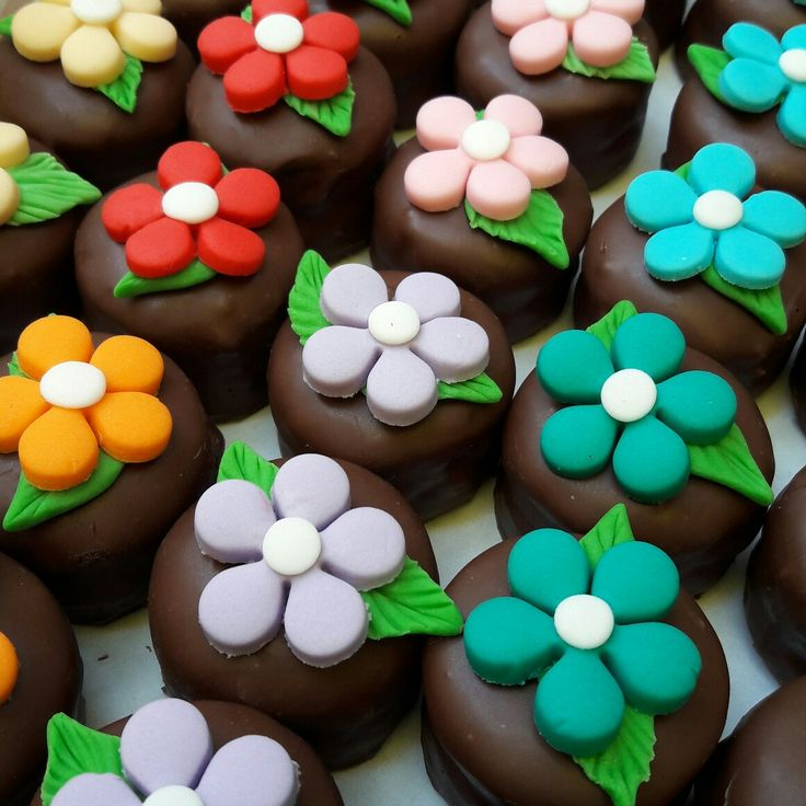 pão de mel decorado flores