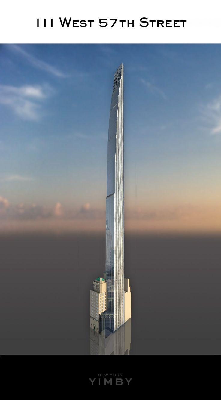 111 West 57th Street – Rendering © 2016 New York - the ridiculously tall (82 stories) building under construction