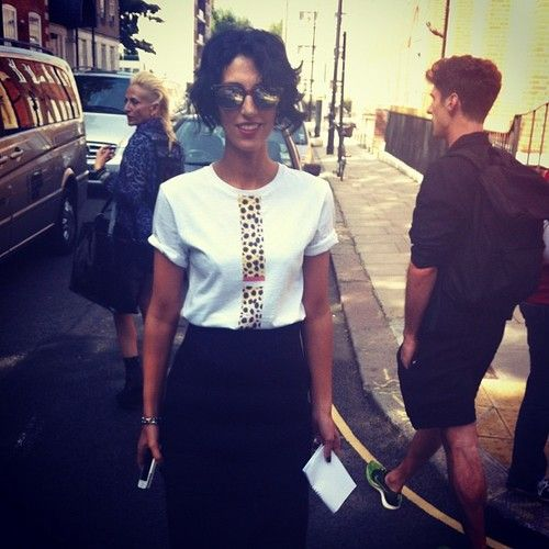 @yasminsewell in new hot brands CECILE T~Shirt and killer Sheriff & Cherry shades #lfw  (Taken with Instagram)