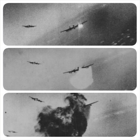 The end of a B-17 Flying Fortress. The chance of being killed was much higher than being a foot soldier.