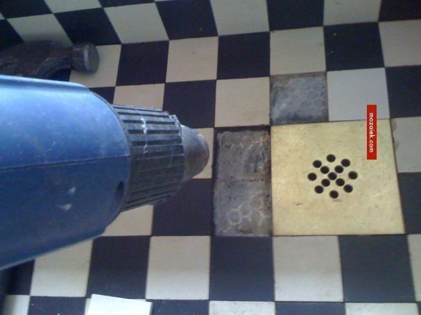 Zwart Witte Tegels Keuken : verffohn gootsteen putje messing tegelgootsteen zwart wit
