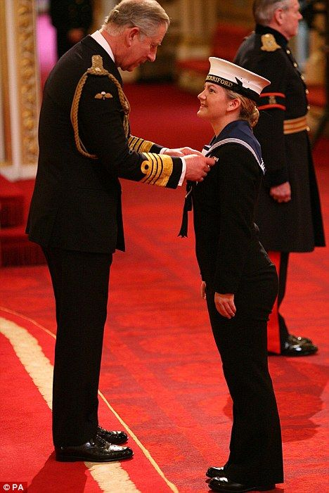 Medic Kate Nesbitt receiving The Military Cross for bravery under fire from Prince Charles. Standing just 5ft tall Kate sprinted 70 yards under Taliban fire to attend LC John List who had been shot through the mouth and  was choking to death, she stayed for 40 minutes attending him saving his life all the while being targeted by the Taliban. What an amazing 21 year old. Inspiration.