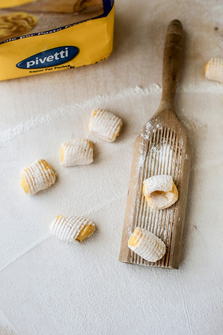 gnocchi alla zucca con crema di parmigiano e nocciole Pivetti