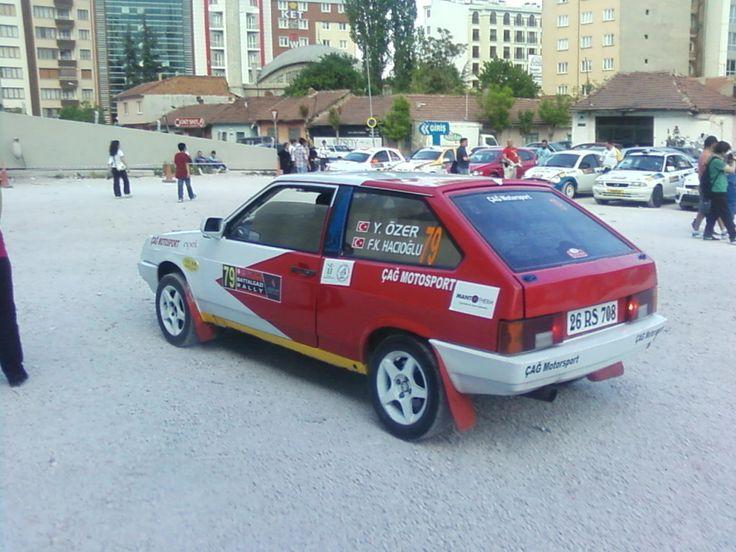 Lada Samara'yı ralli arabası yapan Türkler... İşte Lada Samara ralli aracı (mahalli klasman)...