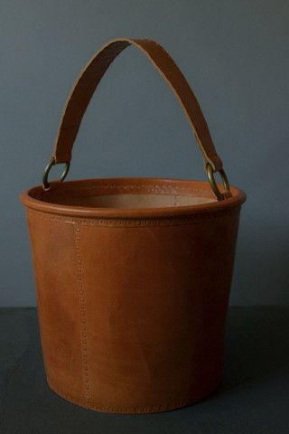 The all new Decorators notebook shop - LEATHER STORAGE / KINDLING BUCKET