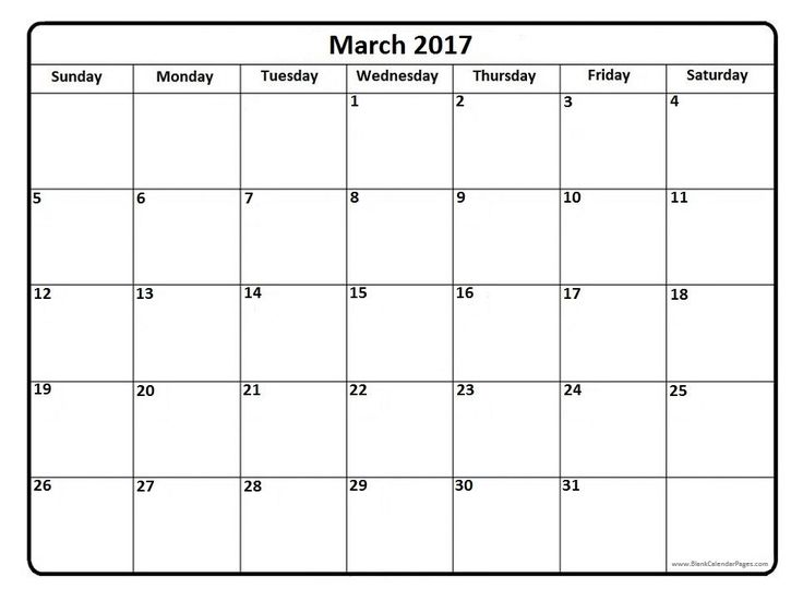 17 Best Images About 2017 Printable Calendars On Pinterest