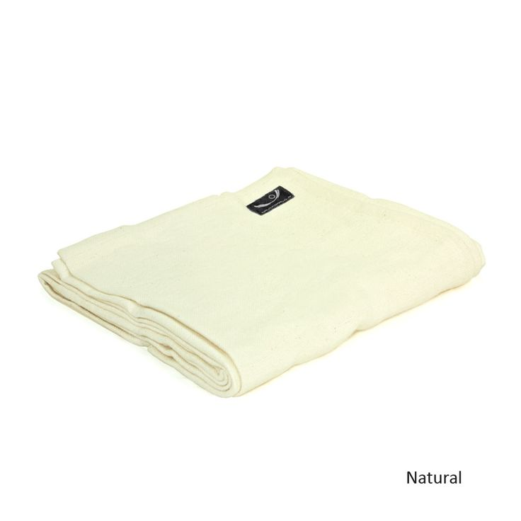Organic Cotton Yoga Blanket in Natural