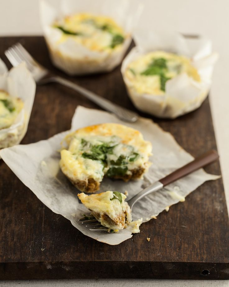 Recipe: Mini Spinach Quiches with Flax Crust — Cookbook Recipes from The Kitchn
