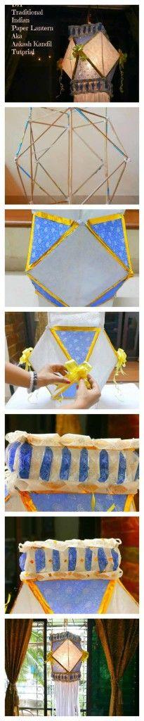 DIY tutorial on Traditional Indian Diwali Lantern : Akash Kandil  #diy #akash #kandil #lantern #craft #diwali #home #decor