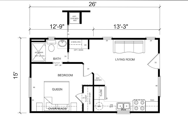 I love this great floor plan for tiny cottage house This