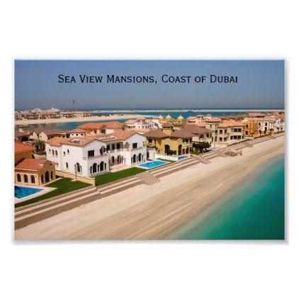 Dubai Real Estate Mansions Coast of Dubai Photo Print - real estate gifts business cyo diy customize
