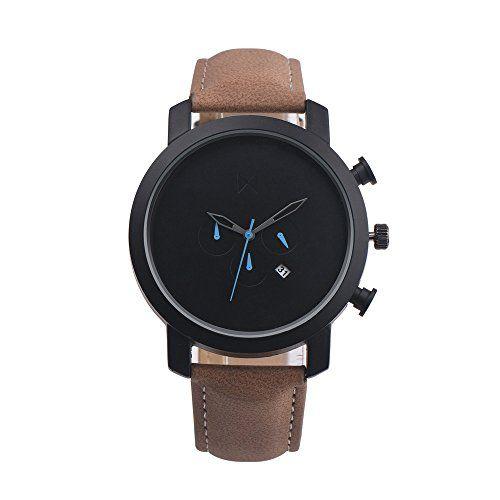 Fami Simple Retro en cuir quartz montre-bracelet(Marron): Un look classique, cette montre analogique quartz mode est spécialement conçue…