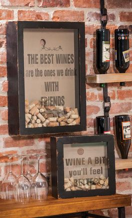 Cute idea for wine decor/what to do with corks