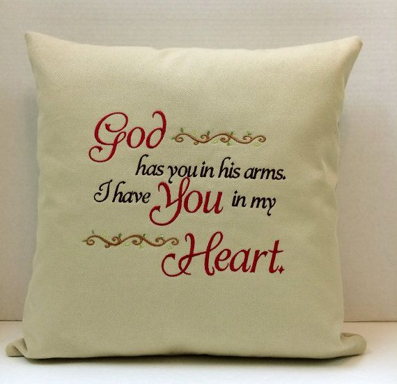 Remembrance Pillow Sympathy Gift Pillow by CustomMadeByPam on Etsy