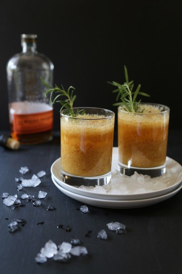 foodie fridays: peach-rosemary bourbon sparkler | Summer ...