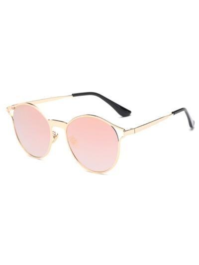 Ahueca hacia fuera el marco ovalado espejo gafas de sol