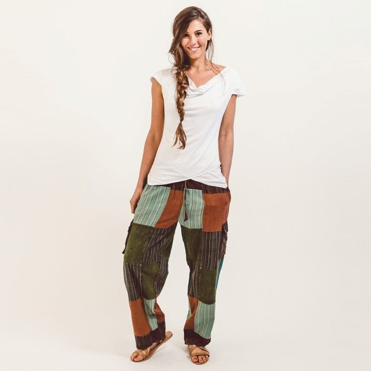 Surya Australia 'Piper' Patch Pants from Nepal