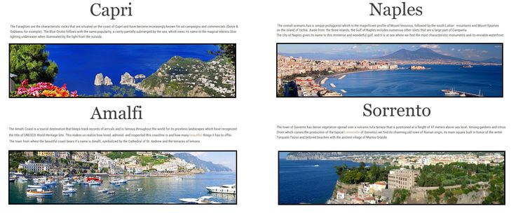 Hire a yacht and experience a magical day out and about the Gulf of Naples and the Amalfi Coast. Visit the villages of Amalfi, Capri, Naples and Sorrento.  Web Site: www.amalfisails.com E-Mail: info@amalfisails.it