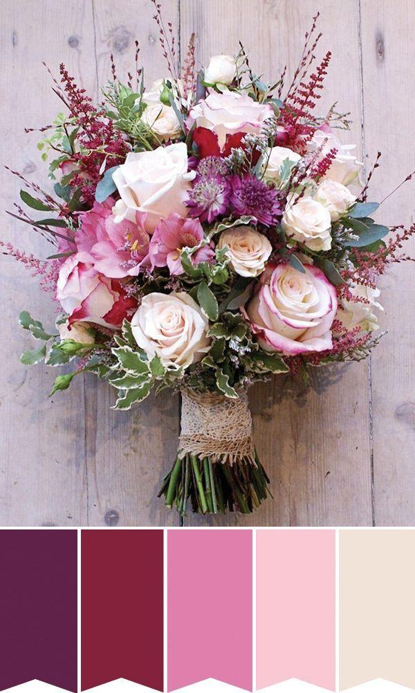 pretty pink high summer bridal bouquet | w