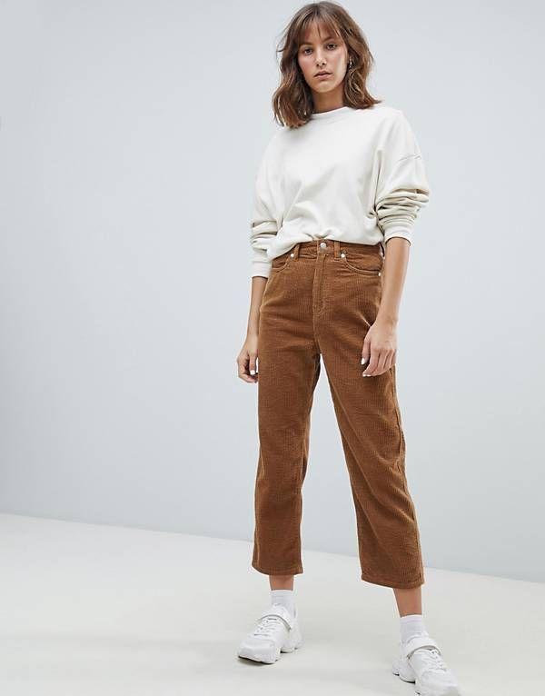 Weekday Tapered Cord Trousers Pantalones De Pana Ropa Pantalones Chinos Mujer