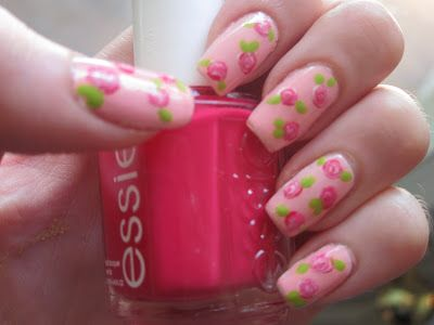 25 unique rose nails tutorial ideas on pinterest gel nail rose nail art tutorial prinsesfo Gallery