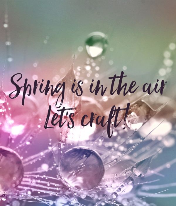 'Spring is in the air  Let's craft!' Poster