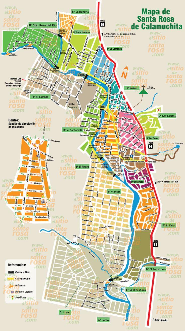 Mapa de Santa Rosa de Calamuchita