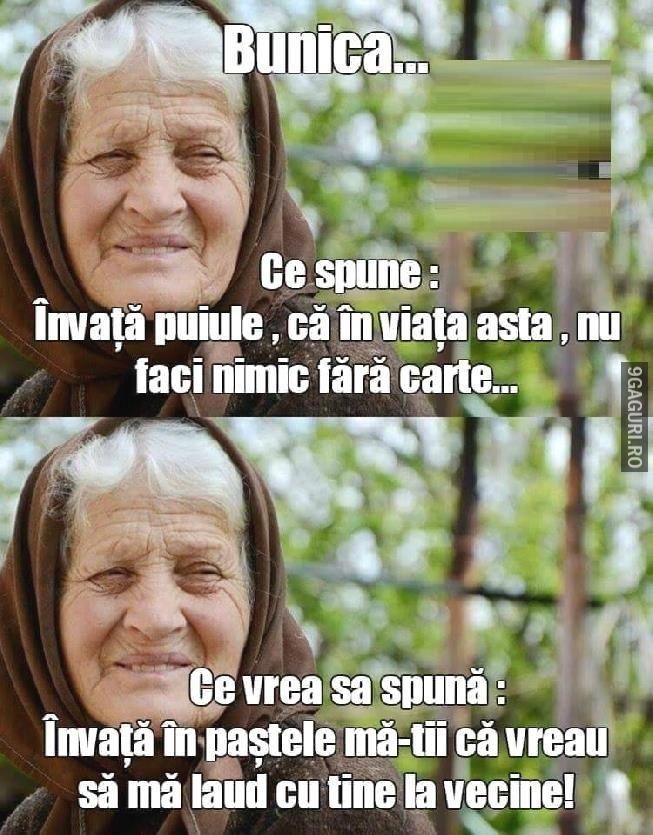 Ce Spune Bunica Ca Să Înveți Link Postare ➡ http://9gaguri.ro/media/ce-spune-bunica-ca-sa-inveti