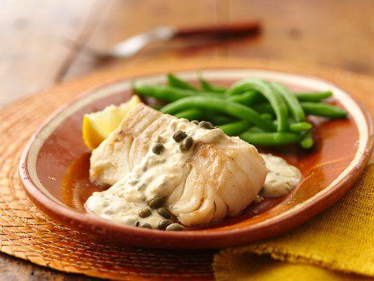 Cod in Caper Sauce - Que Rica Vida
