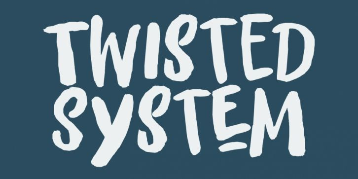Twisted System Font Download Font Fonts Typography Typeface