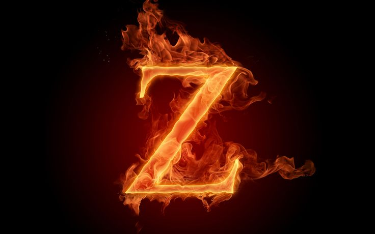 The fiery English alphabet picture Z