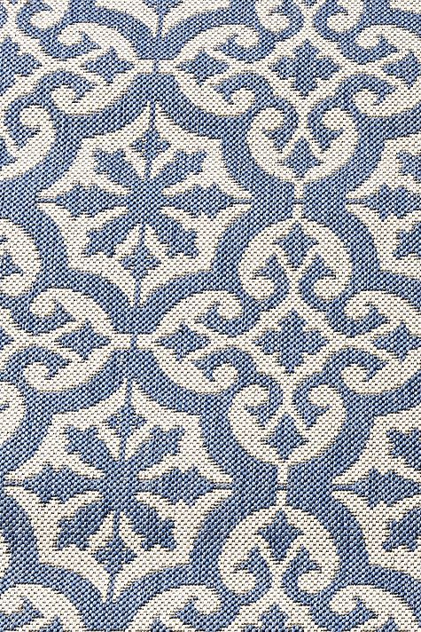 The scrolled quatrefoil medallions of our Riveria Indoor/Outdoor Rug were inspired by classic Mediterranean tiles. Machine loomed of soft, washable, UV-treated polypropylene. Use of a rug pad is recommended.Riviera Indoor/Outdoor Rug features:Great for high-traffic, spill-prone areasSizes are approximatePattern scale & repeat will vary with rug sizeImported from Belgium