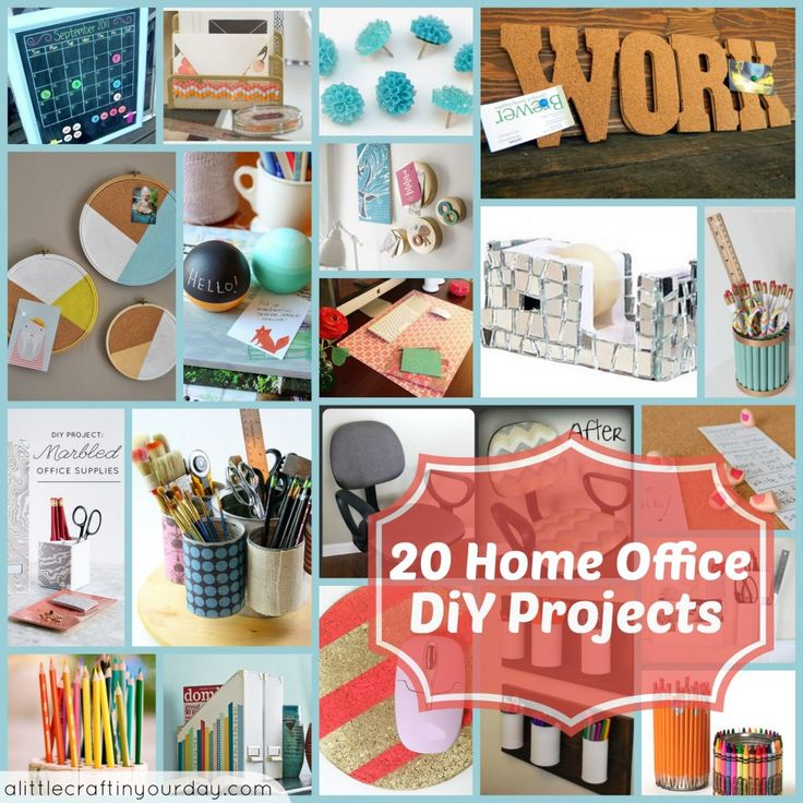 20 home office diy projects diy projects pinterest - Pinterest craft ideas for home decor property ...