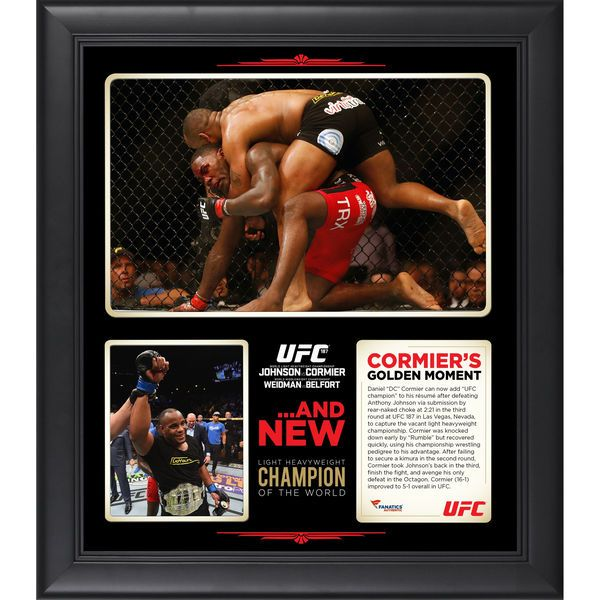 Daniel Cormier Ultimate Fighting Championship Fanatics Authentic Framed 15'' x 17'' UFC 187 New Light Heavyweight Champion Collage - $59.99