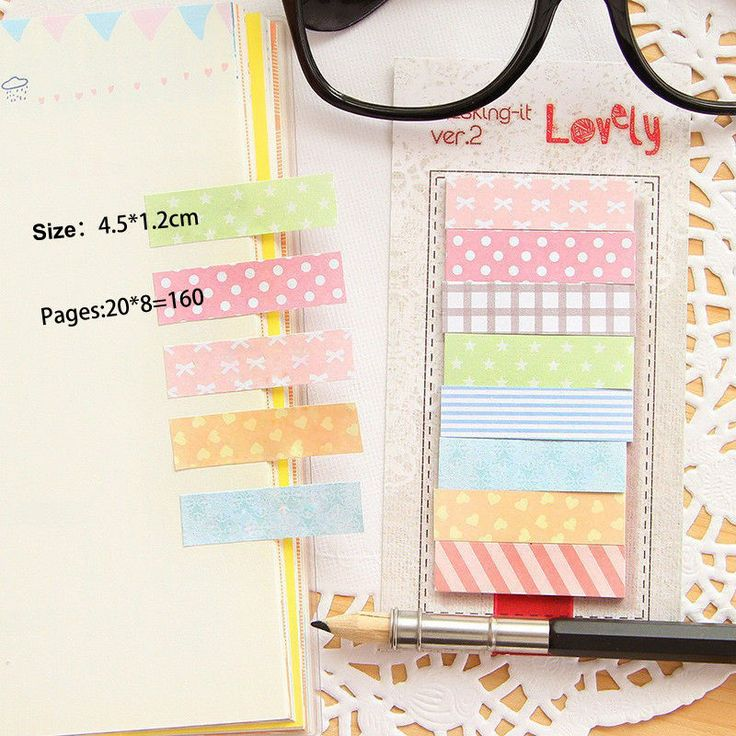 Cute Bookmark Sticker Point Marker Memo Notepad Sticky Note Stationery 160 Pages