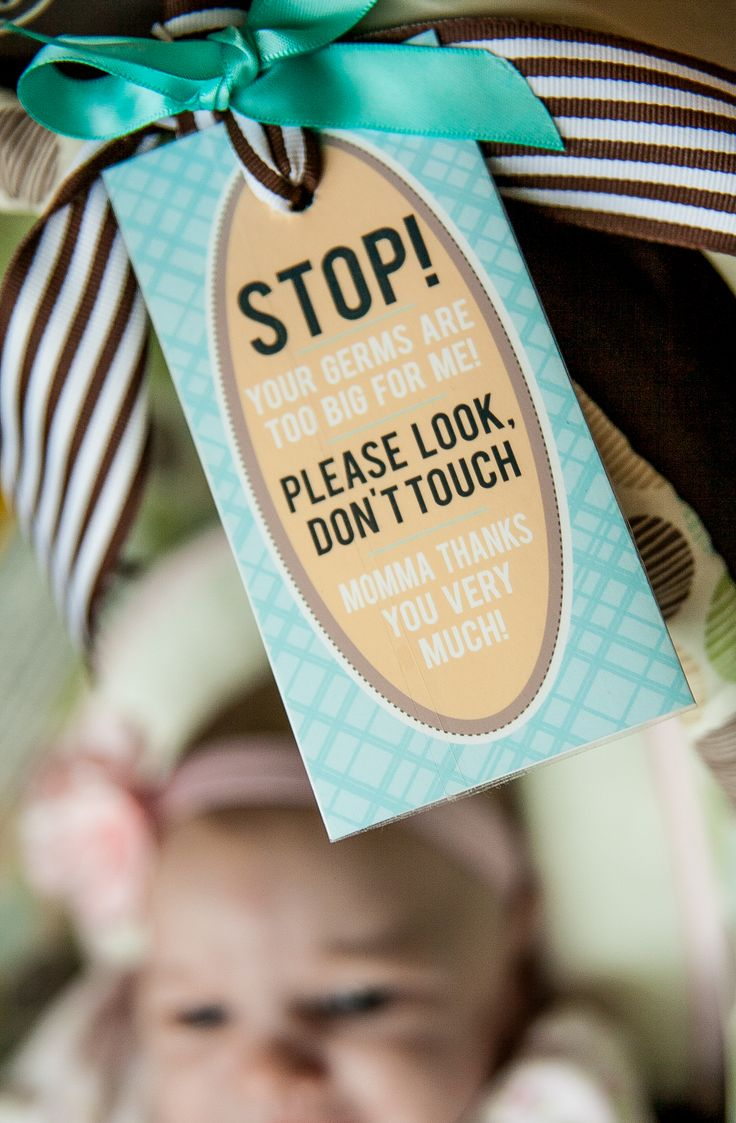 "Free Printable ""Don't Touch Baby"" Car Seat Tag"