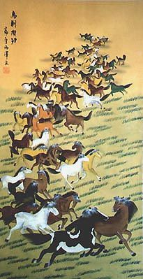 Chinese Horse Painting - This is an Original Painting
