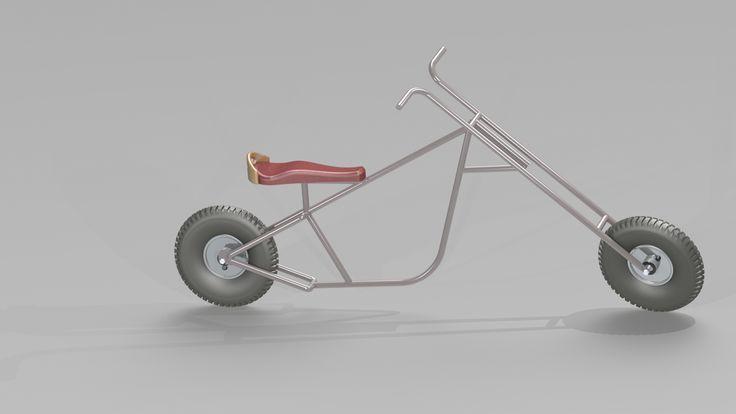 The Baby Chopper de Bart Descriptif technique :  Cette draisienne est réalisée en tubes d'acier de 15 millimètres. (laqués ou vernis afin d'éviter l'oxydation) Ils sont cintrés et soudés ensemble. (La fourche reste mobile) La selle est en hydroformage pour un meilleur confort et un prix avantageux. Celle ci pourra supporter un deuxième enfant. (plus on est de fous, plus on rit...) La position du sujet sur l'objet est semblable à celle d'un motard sur une moto de type Chopper.    Points…