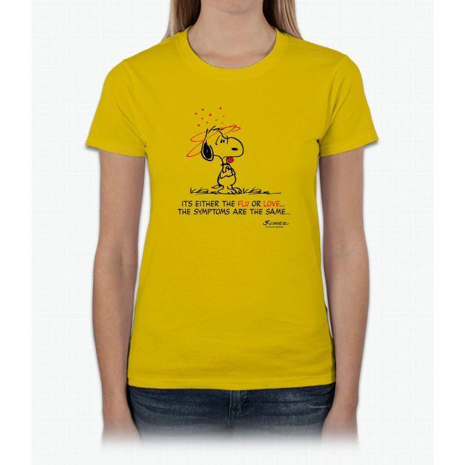 Snoopy Flu Love Ladies T-Shirt