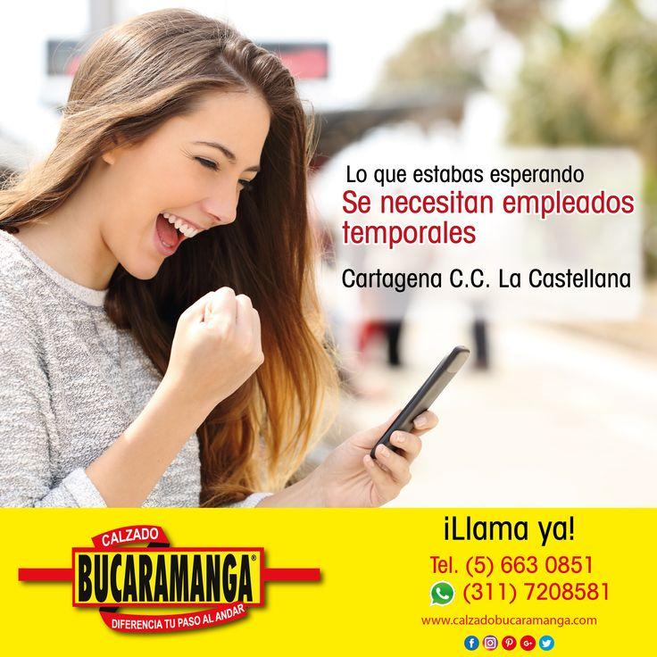 Esta es la oportunidad que tanto estabas esperando. En #Cartagena se necesitan empleados temporales ¡Llama ya!