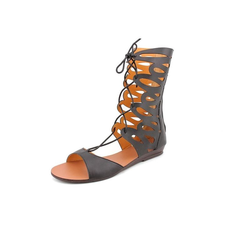 N.Y.L.A. Meekus Womens Faux Leather Gladiator Sandals Shoes