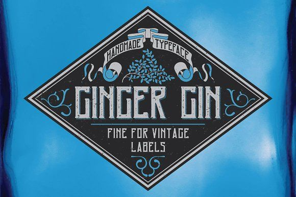Ginger Gin Label Typeface by Vozzy on @creativemarket