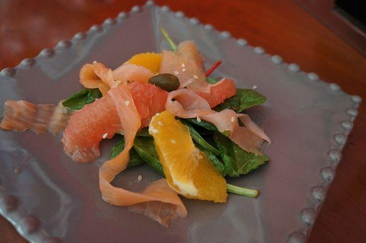 Salade Saumon pamplemousse Smoked Salmon Grapefruit Salad