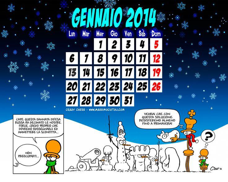 Crazy Chess Calendar - January 2014