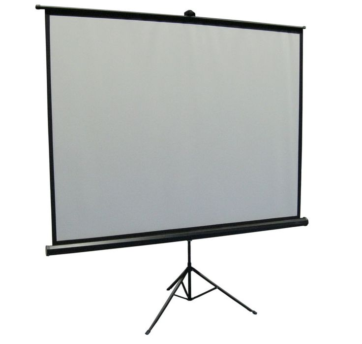 "New 100"" Portable Projector Screen 4:3 Projection Pull Up Foldable Stand Tripod #VIVO"