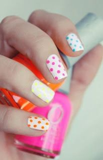 colorful polka dots #nail #nailart #nail http://pinterest.com/ahaishopping/