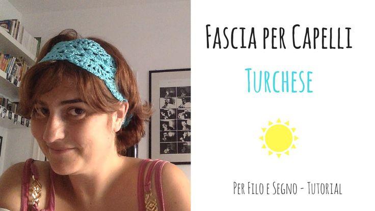 Tutorial - Fascia per capelli turchese