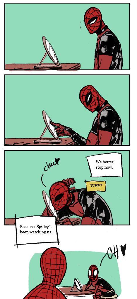 Superhero and peter parker