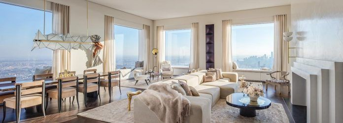 Kelly Behun revealed her vision for the highest completed penthouse in New York City - CAANdesign | Architecture and home design blog