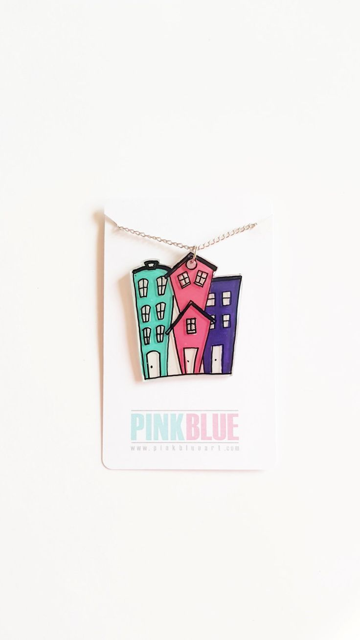7 best shrinky dink plastic jewelry pink blue art uk shop etsy city apartments shrink plastic jewelry shrinky dink necklace funny gifts sku sdn1 negle Images